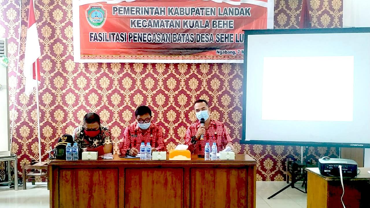 DPMPD Landak Fasilitasi Penegasan Batas Desa Sehe Lusur Kecamatan Kuala Behe